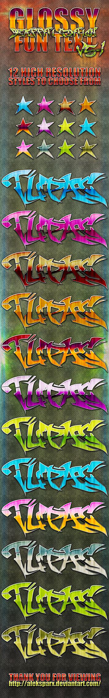 Genuine Glossy Graffiti Style by alekSparx