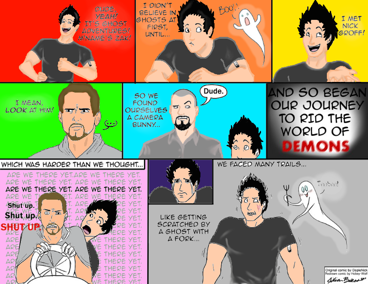 WORK IN PROGRESS OF THE GHOST ADVENTURES COMIC!! by Sharpie1023