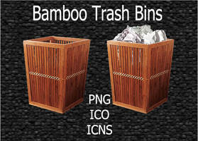 Bamboo Trash Bins