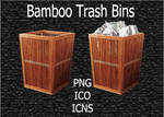 Bamboo Trash Bins