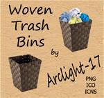 Woven Trash Bins