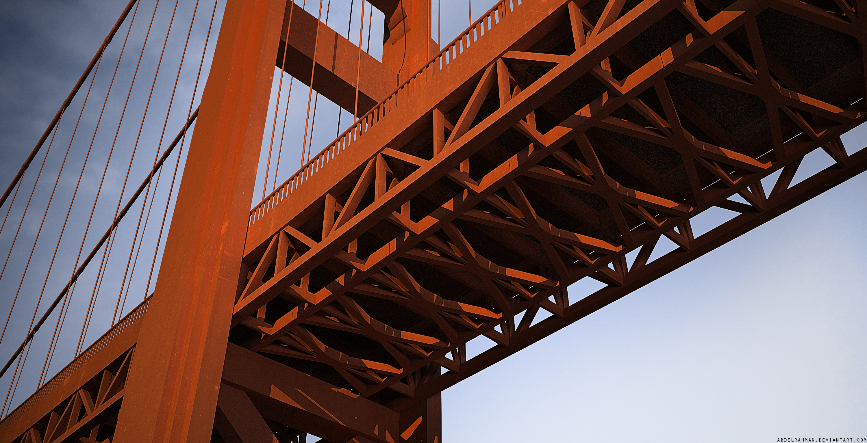 Golden Gate [render #1] by abdelrahman