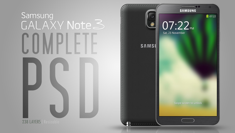Galaxy Note III - PSD - PNG by abdelrahman