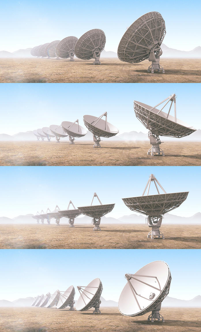 Radio Telescopes Wall Pack by abdelrahman