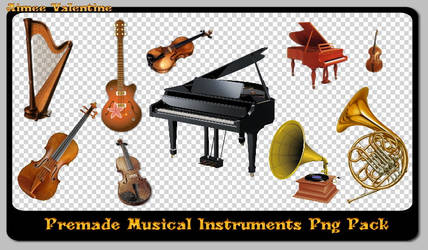 Premade Musical Instruments Png Pack