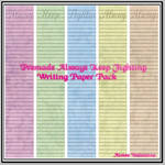 Premade Always Keep Fighting Writing Paper Pack