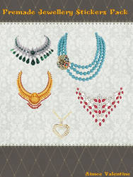 Premade Jewellery Stickers Pack by LadyVsArtAndStock