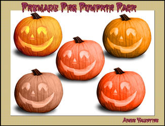 Premade Png Pumpkin Pack by LadyVsArtAndStock