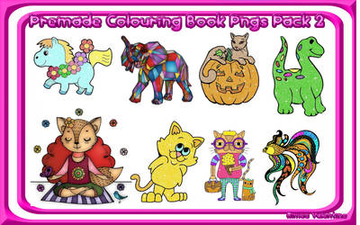 Premade Colouring Book Pngs Pack 2 by LadyVsArtAndStock
