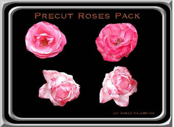 Precut Roses Pack by LadyVsArtAndStock