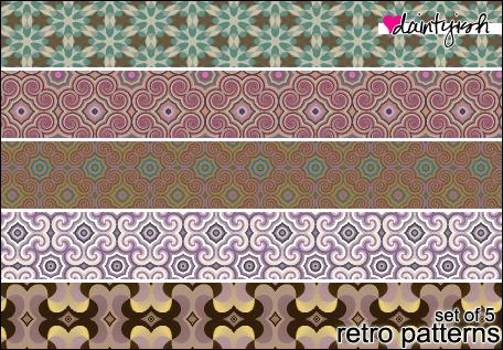 Photoshop Retro patterns by daintyish
