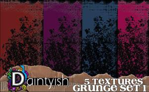 Grunge set 1 by daintyish