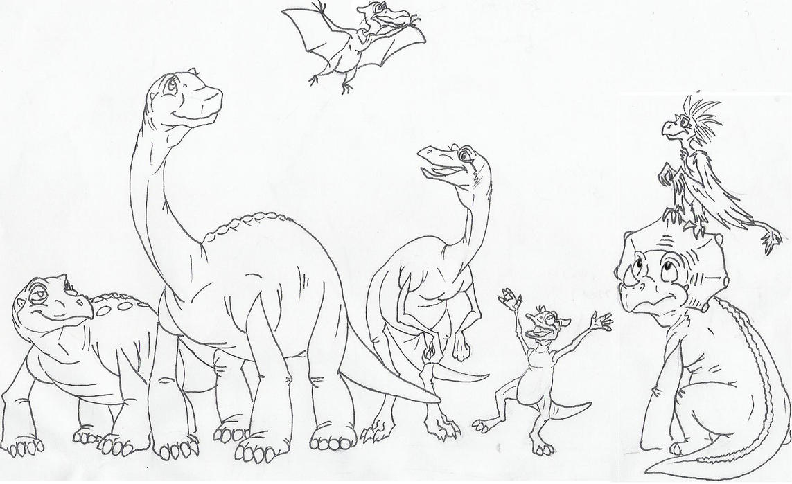 Land Before Time Coloring Page - Costumepartyrun