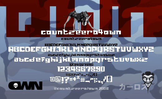 countzeero4own screenfont by Th3C0unt