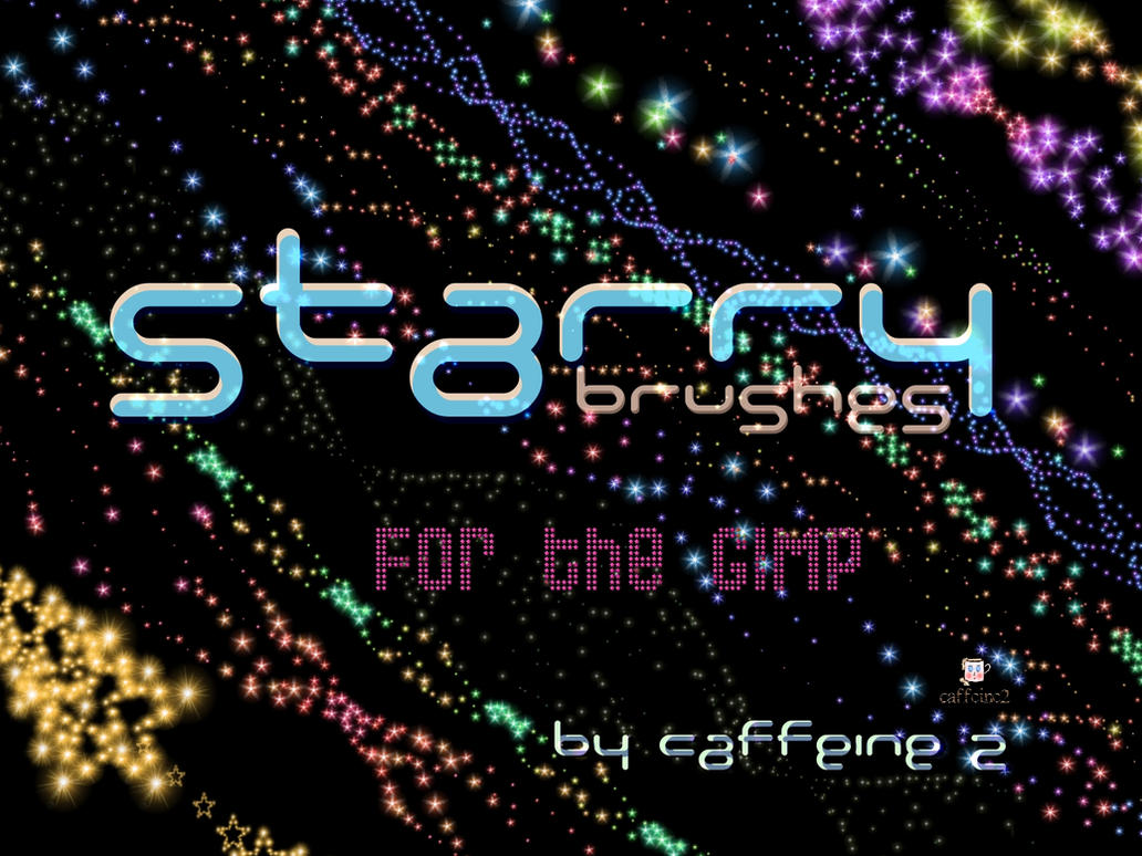 Starry brushes by caffeine2