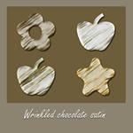 Wrinkled chocolate Satin Style