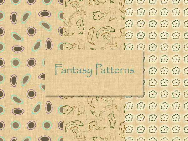 Fantasy-4 Patterns_Photoshop by MrsLavender