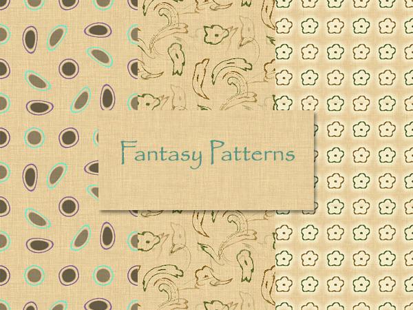 Fantasy-4 Patterns_Photoshop by MrsLavender