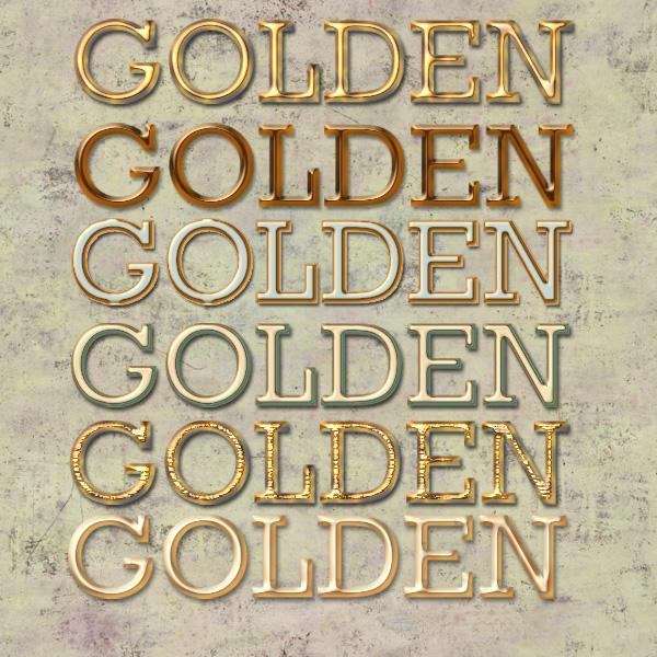 6 Golden Styles by MrsLavender