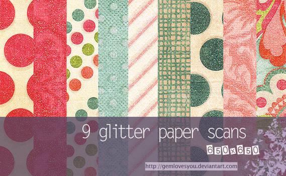 Glitter Paper Scans