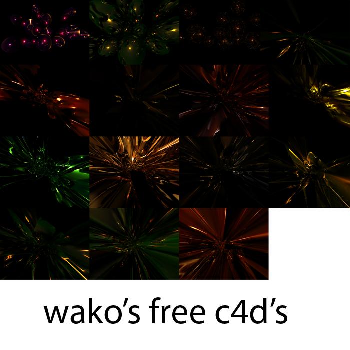 wako's free c4d's by wakodako11