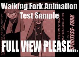 Fork walking animation sample by NeoSlashott
