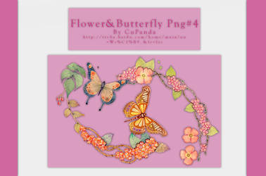 Flower and Butterfly Png