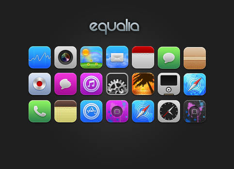 Equalia iPhone Theme