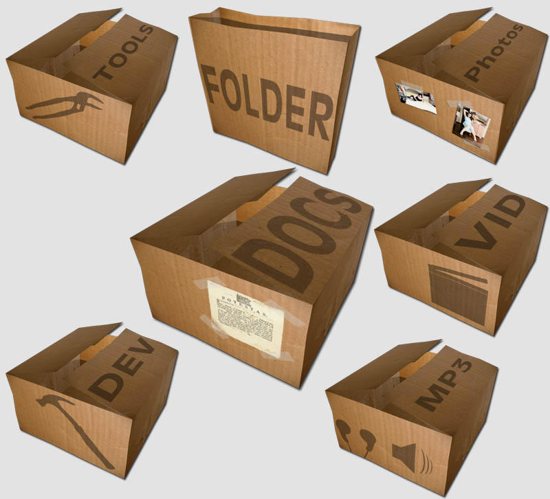 Box Icon Set by montegentile