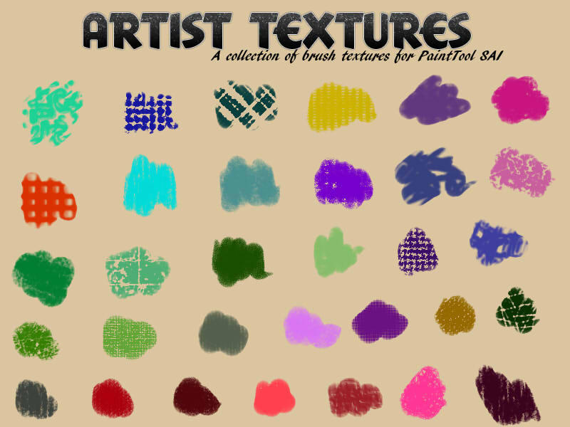 Art Textures for PaintTool SAI by aheria on DeviantArt