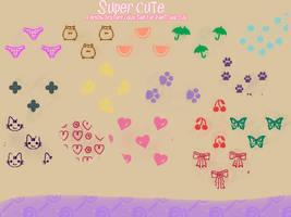 Cute - PaintTool SAI brushtex by aheria