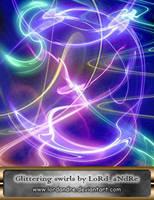 Glittering swirls by LoRdaNdRe