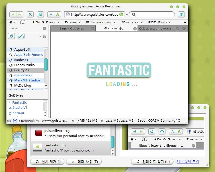 FANTASTIC Skin For Firefox 1.5 by u2bonokim