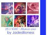 World of Warcraft Alliance Icons