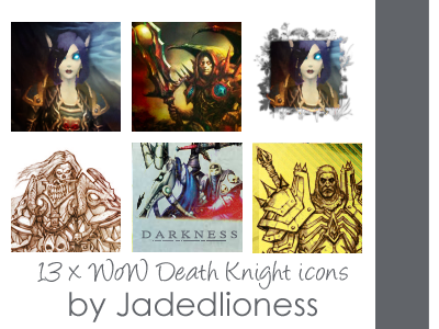 World of Warcraft Death Knight Icons by jadedlioness