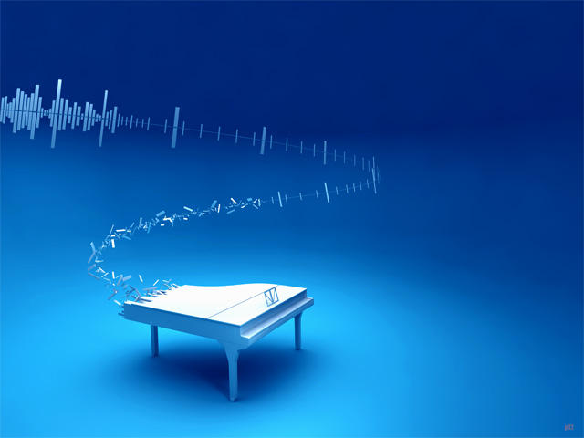 Digital melody wallpaper by Pushok-12