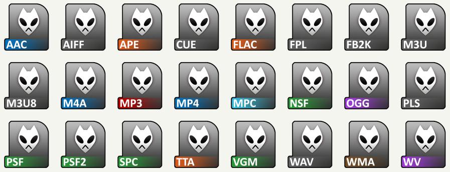 Foobar File Icons by Baka9999