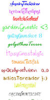 Homestuck Handwriting by consideredCrazed