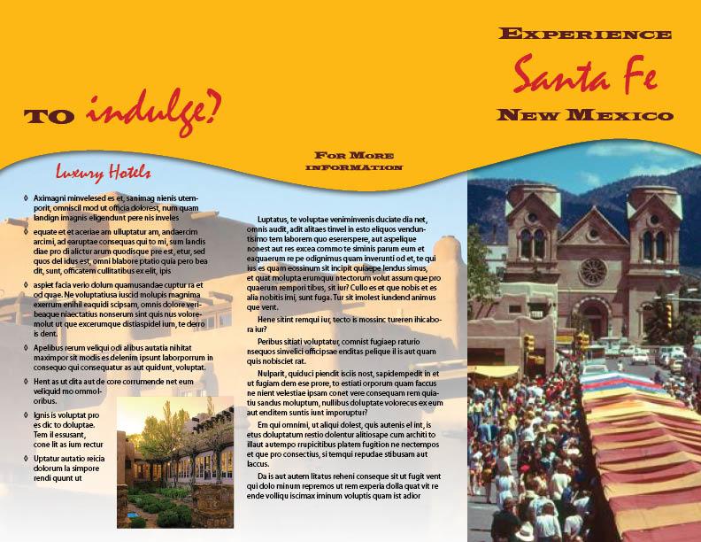 Santa Fe mock travel brochure by maXVolnutt on DeviantArt