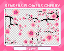 [PACK PNGS #25] Flowers Cherry by fairyixing