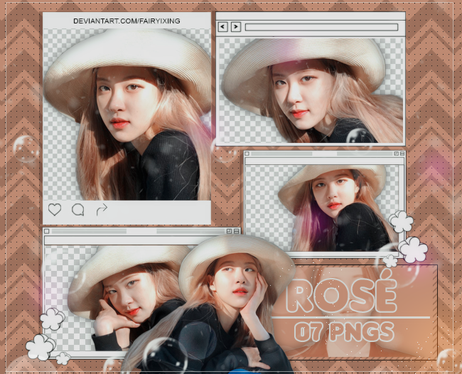 PNG PACK #867] Rose - BLACKPINK (180930) by fairyixing on