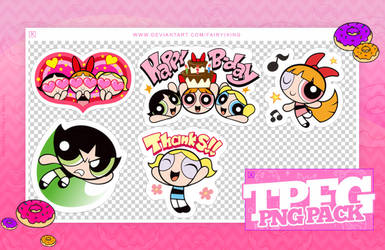 [PACK PNGS #29] The Powerpuff Girls - Stickers by fairyixing