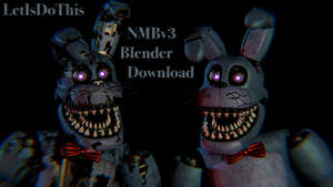 Nightmare Bonnie V3! by lettuce-boi