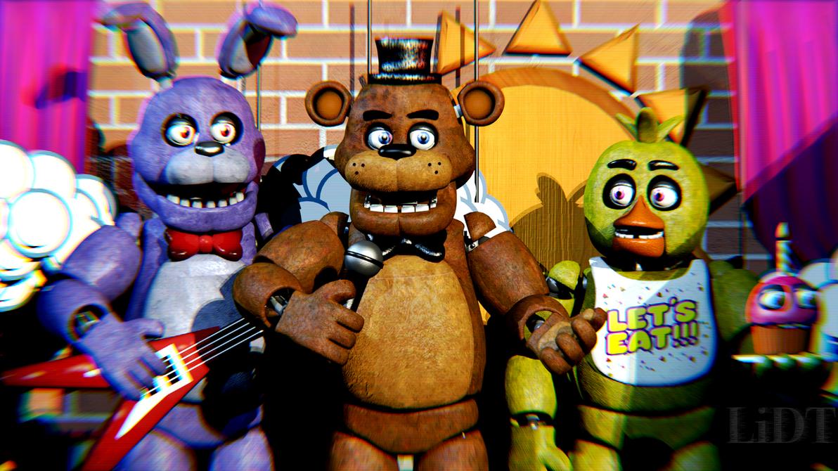 Пиццерия из fnaf с аниматрониками
