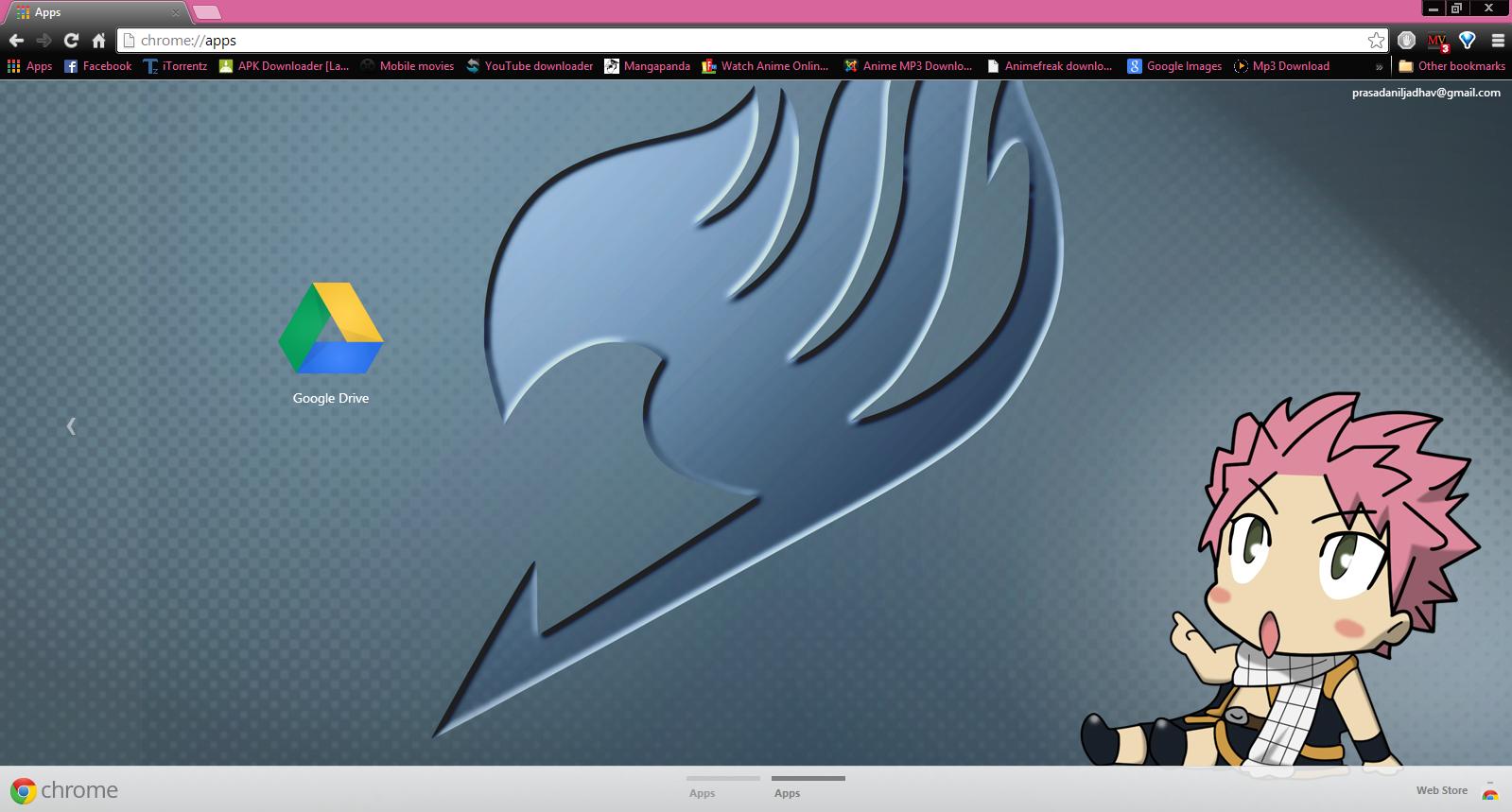 Google themes fairy tail -  Cute Fairy Tail Natsu Chrome Theme By Prasad9323 By Prasad9323