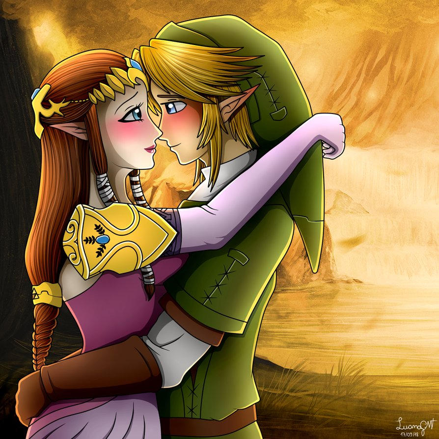Twilight Princess Zelink Escaping The Castle By Jarred42501