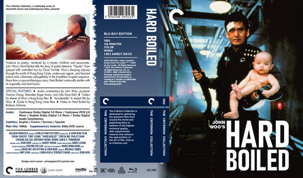 Hard Boiled - Criterion Collection Artwork