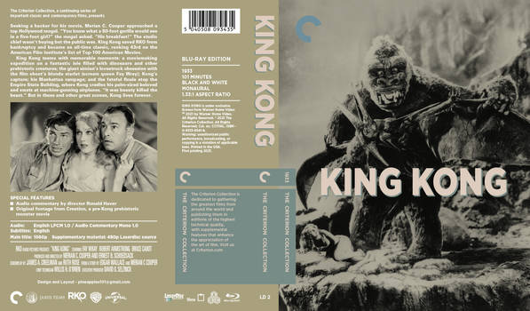 King Kong (1933) - Criterion Collection Artwork