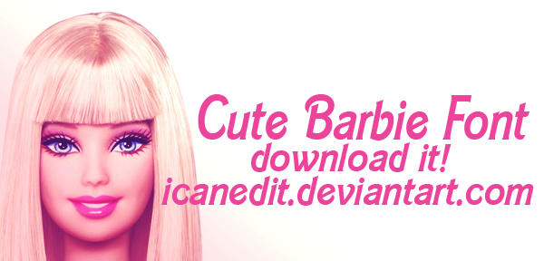 Cute barbie font by icanedit on deviantart Cute font generator free
