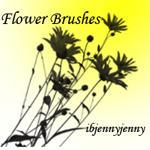 Photoshop Flower Brushes by ibjennyjenny